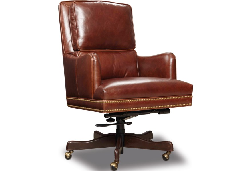 Hooker Furniture Executive Seating Transitional Home Office Chair Zak S Home Executive Desk Chairs