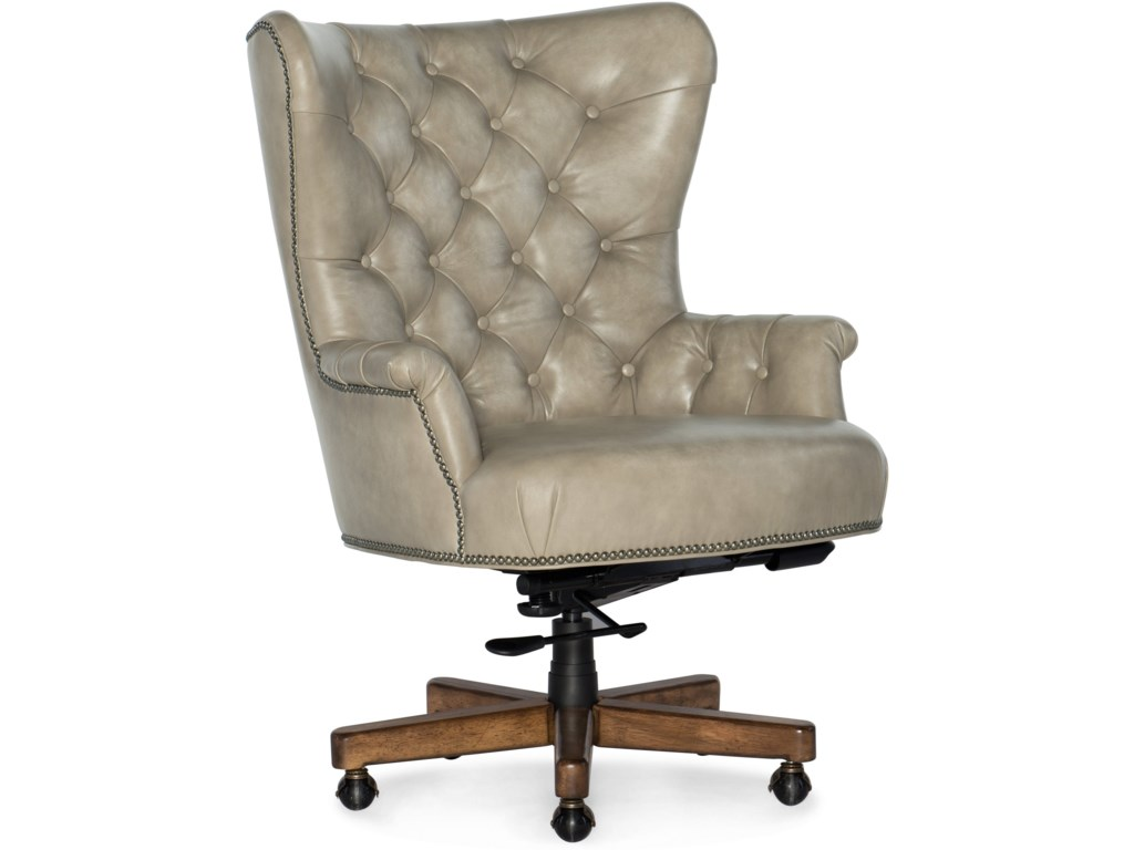Hooker Furniture Executive Seating Traditional Executive Chair With Button Tufting Wayside Furniture Executive Desk Chairs