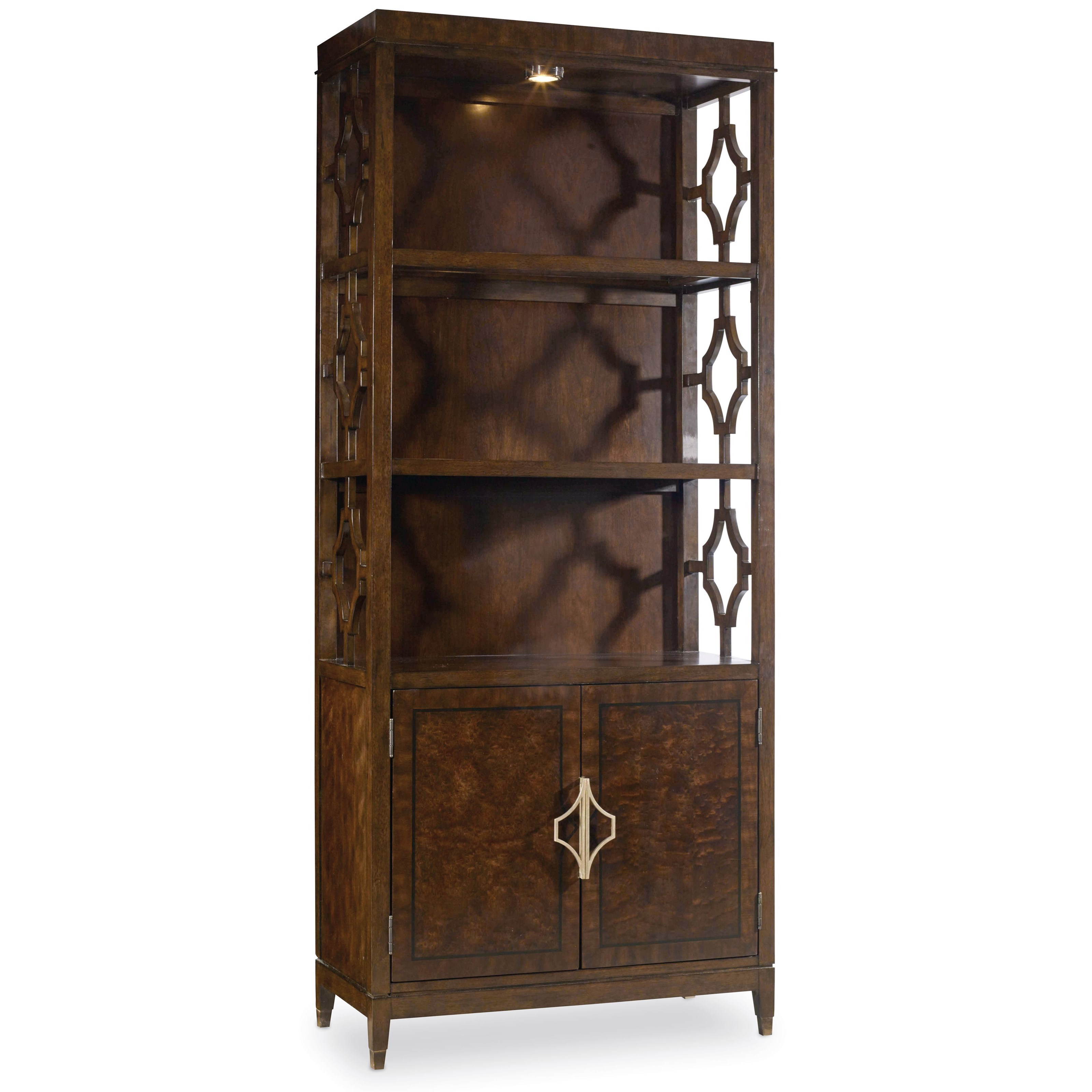 Hooker Furniture Skyline 5336 10446 Bunching Bookcase With Touch Lighting |  Baeru0027s Furniture | Bookcase   2 Pc. With Hutch
