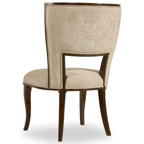 Hooker Furniture Skyline Upholstered Side Chair with Cabriole Legs