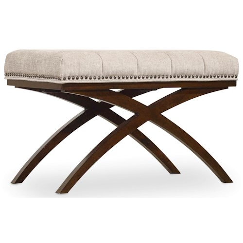 Hooker Furniture Skyline Bench with Tufted Seat