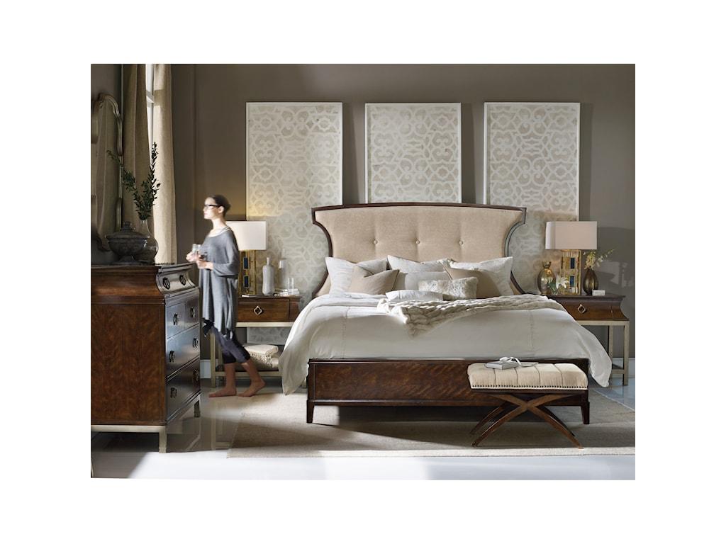 Hooker Furniture SkylineKing Upholstered Panel Bed