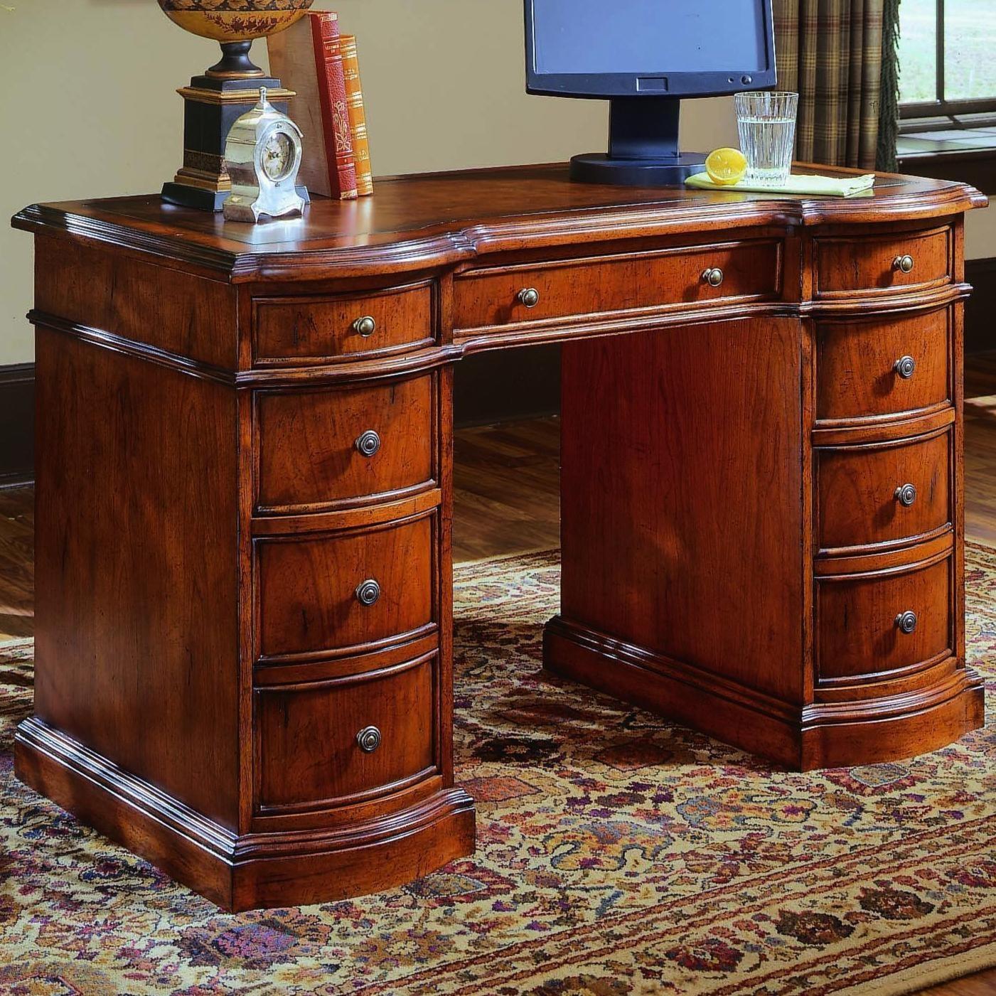 hooker furniture small knee-hole desks knee hole desk with bow