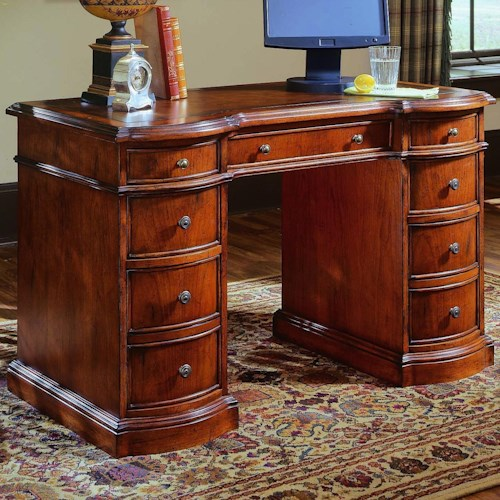 Hooker Furniture Small Knee-Hole Desks Knee Hole Desk with Bow Front