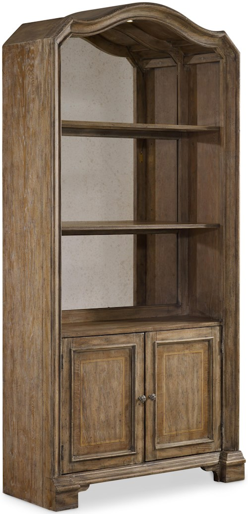 Hooker Furniture Solana Bunching Bookcase with Mirrored Back Panel and 2 Shelves