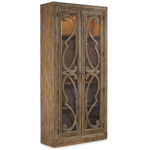 Hooker Furniture Solana 2 Door Bunching Curio Cabinet with 3 Shelves
