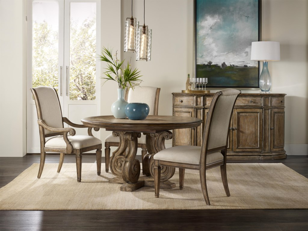 Hooker Furniture Solana Round Single Pedestal Dining Table with ...