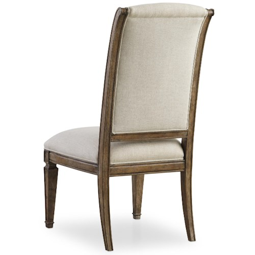 Hooker Furniture Solana Upholstered Side Chair with Tapered Legs