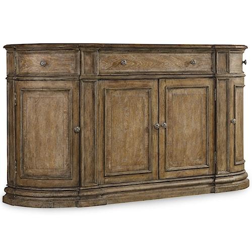 Hooker Furniture Solana 4 Door Buffet with Wine Storage