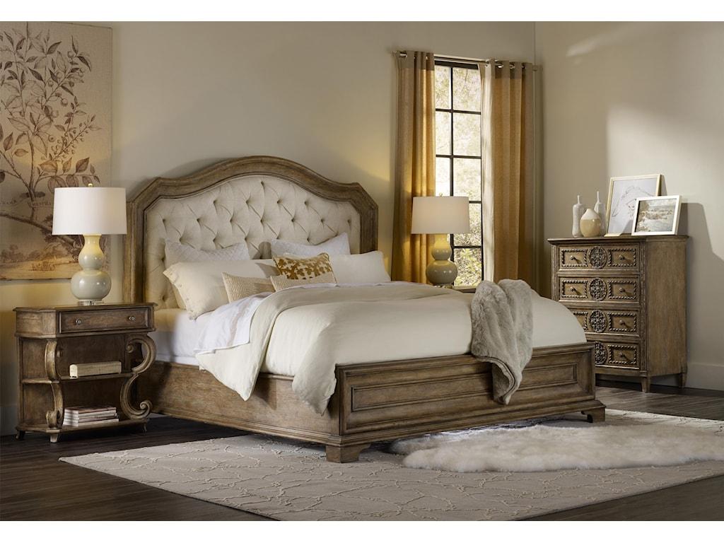 Hooker Furniture SolanaKing Upholstered Panel Bed