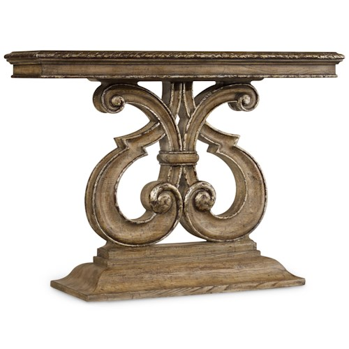 Hooker Furniture Solana Console Table with Shapely Pedestal Base