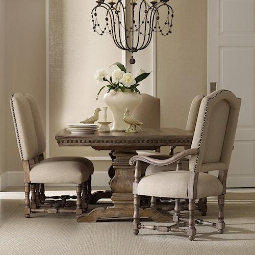 Hamilton Home Sorella Formal Dining Set with Rectangular Table ...