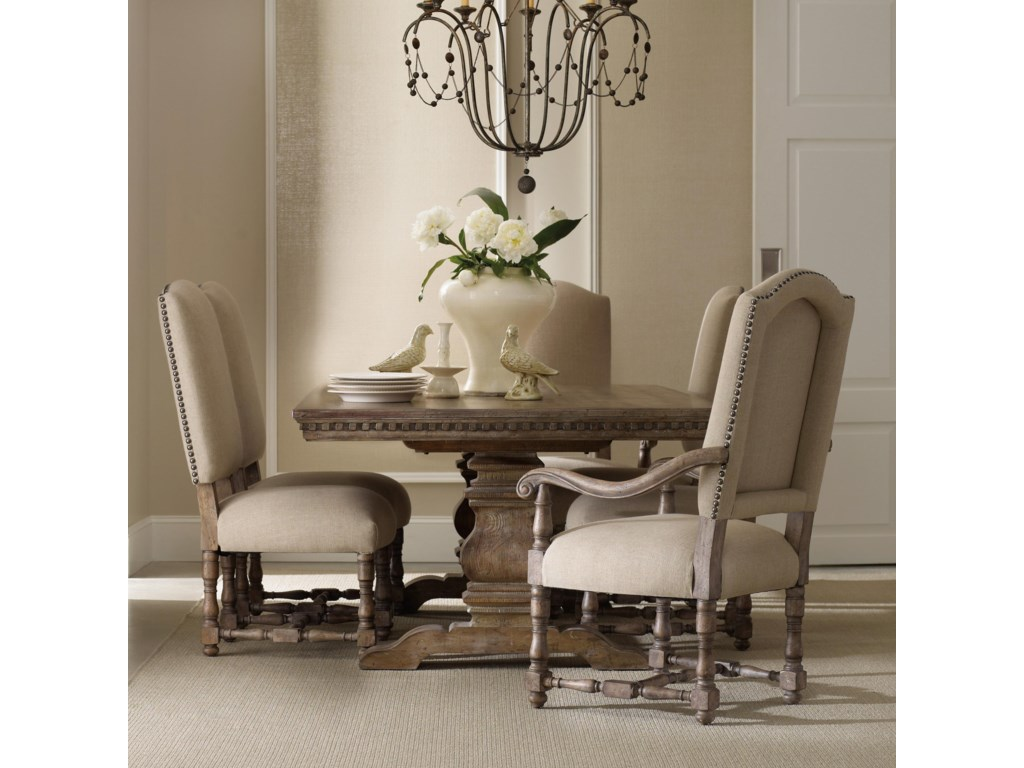 Hooker Furniture SorellaRectangular Table with Upholstered Chairs
