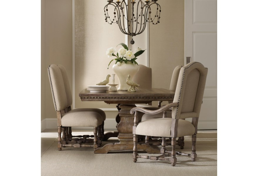 Sorella Formal Dining Set with Rectangular Table, Upholstered Arm Chairs  and Upholstered Side Chairs by Hooker Furniture at Suburban Furniture
