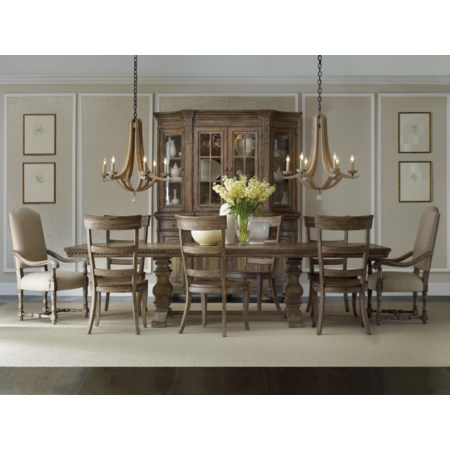Rectangular Table with Mixed Style Chairs