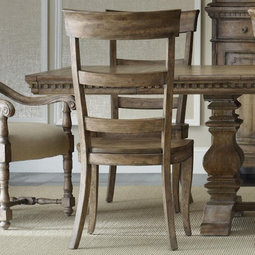 Hooker Furniture Sorella Ladderback Dining Side Chair with Contoured Wooden Seat