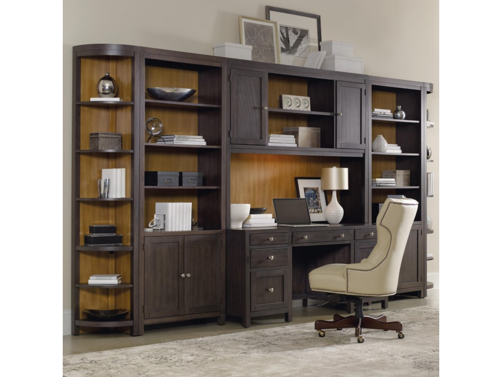 release date: ef747 15b3a South Park Home Office Wall Unit with Computer Credenza by Hooker Furniture  at Stoney Creek Furniture