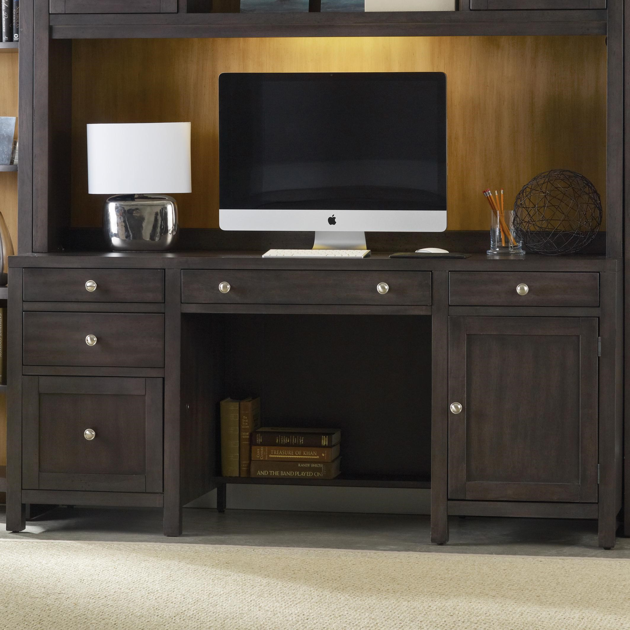 Hooker Furniture South Park Computer Credenza With Electrical Outlets And 4  Drawers
