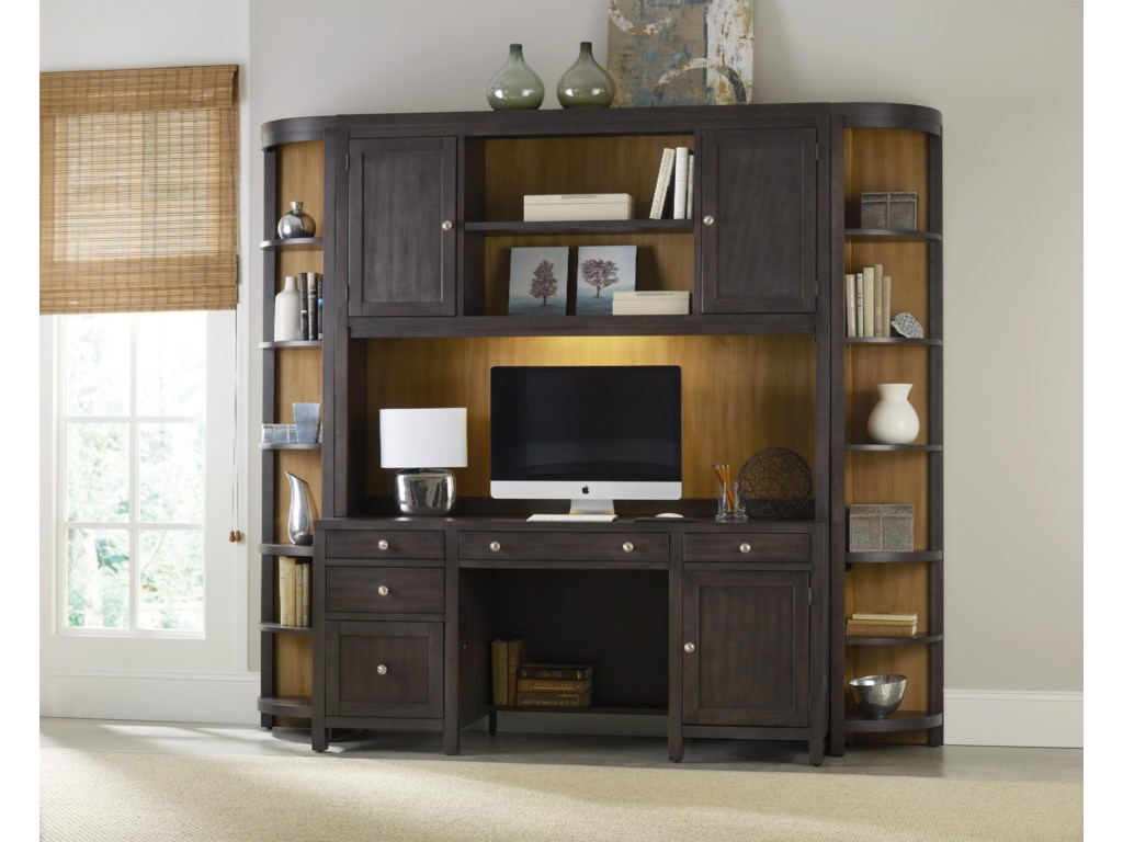 Shown as Part of Wall Unit with Hutch and Corner Units