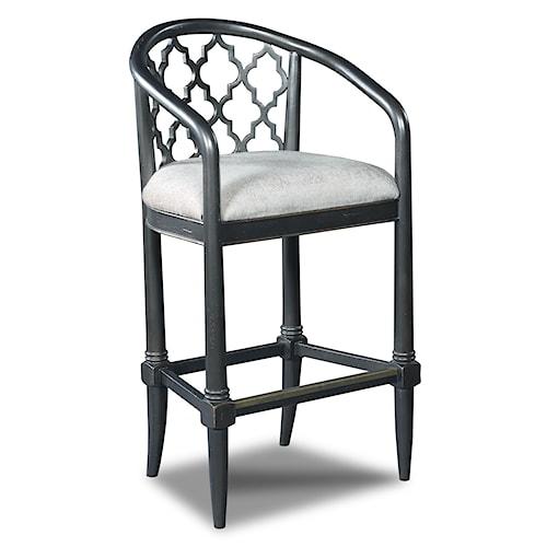 Hooker Furniture Stools Dark Cosmopolitan Geometric Transitional Barstool