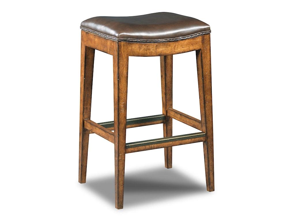 Hooker Furniture Stools MediumSangria Rec Backless Barstool