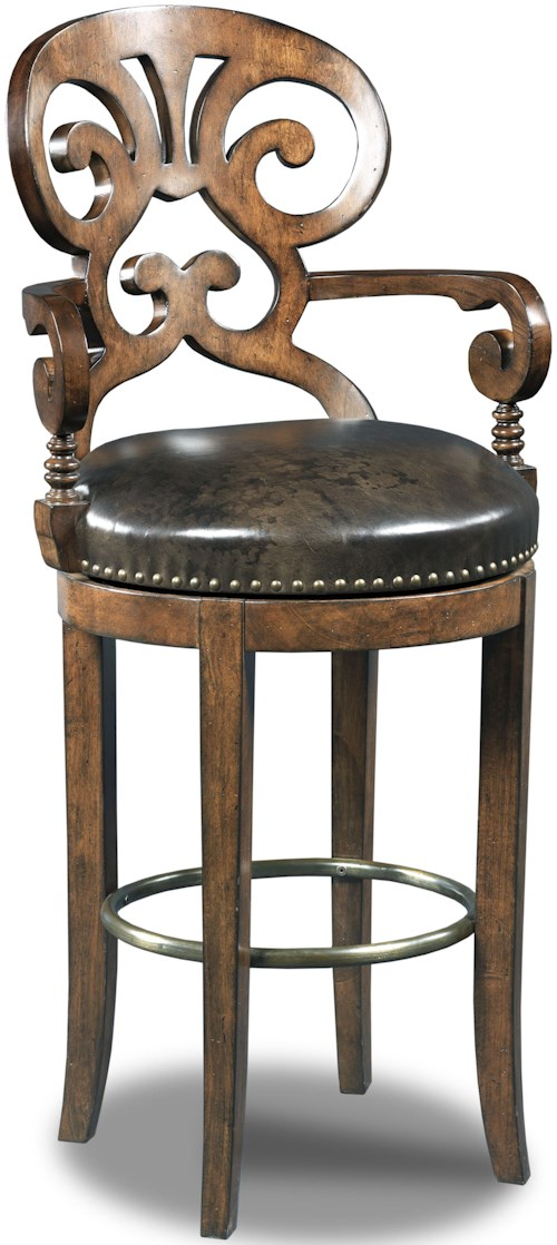 Hamilton home stools dark jameson traditional leather for Furniture 0 percent financing