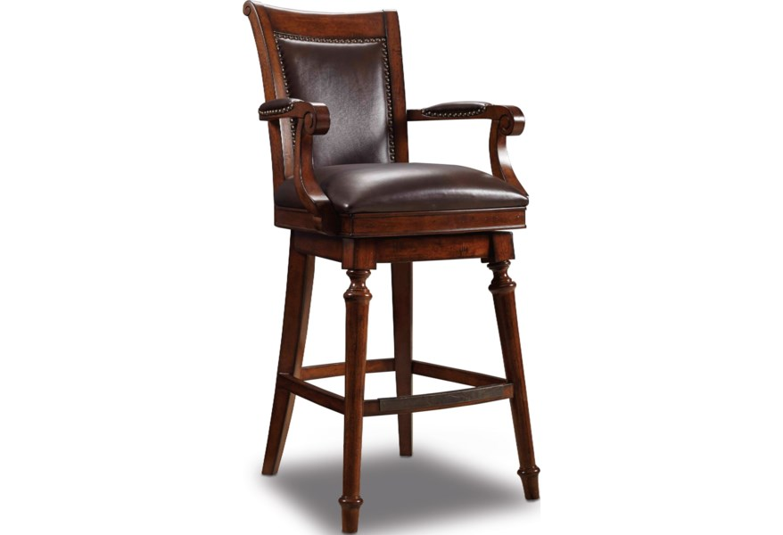 Stools Dark Traditional Swivel Leather Merlot Barstool By Furniture At Dunk Bright