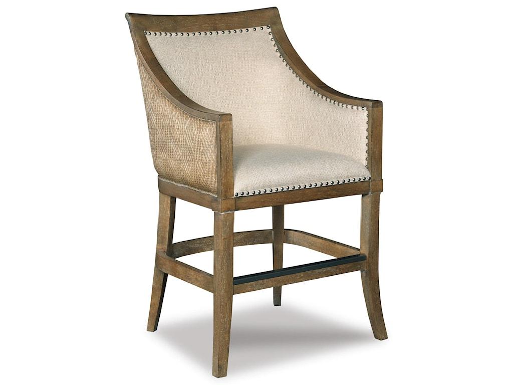 Hooker Furniture Stools LightSea Breeze - Tropical Counter Stool