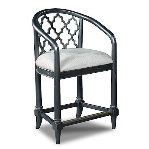 Hooker Furniture Stools Dark Cosmopolitan - Geometric Transitional Counter Stool