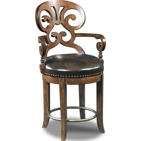 Jameson Traditional Leather Counter Stool