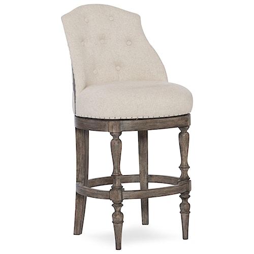 Hooker Furniture Stools Medium Kacey Traditional Deconstructed