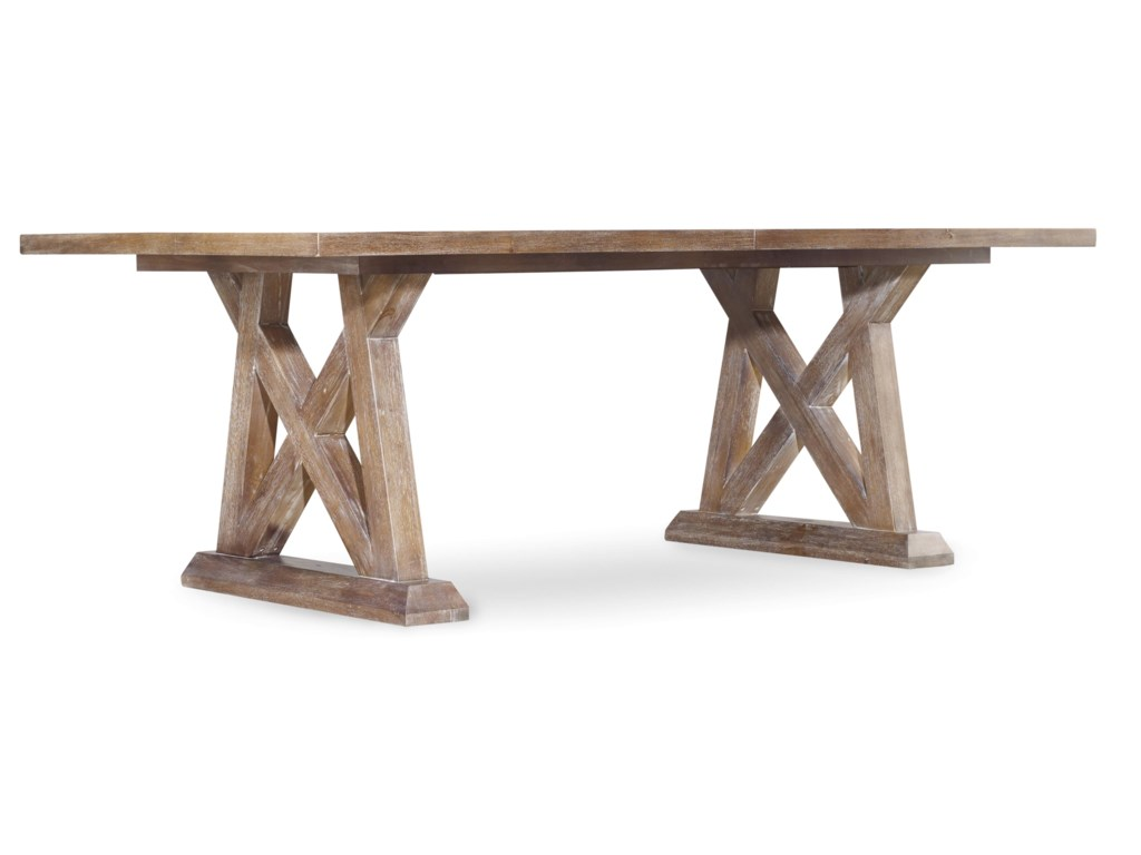 Hooker Furniture Studio 7HGeo Trestle Dining Table