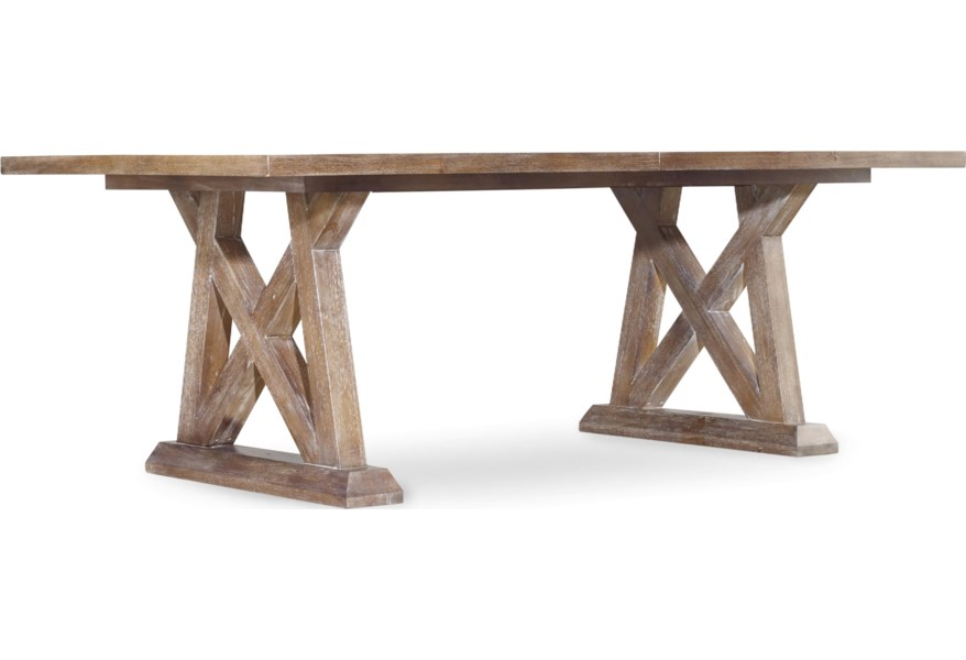Hooker Furniture Studio 7h Geo Trestle Dining Table With X Pedestals Zak S Home Dining Tables