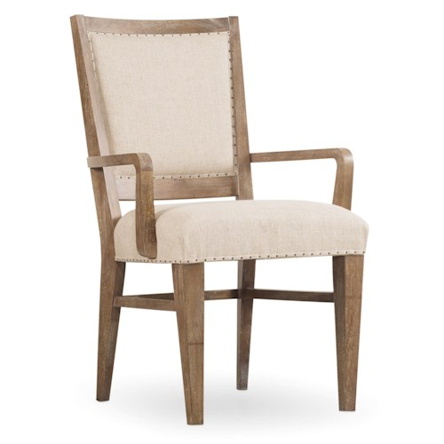 Hooker Furniture Studio 7H Stol Upholstered Arm Chair with Nailhead Trim