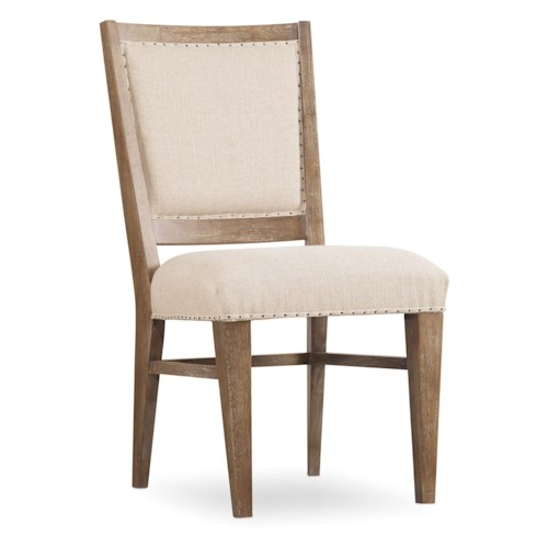 Hooker Furniture Studio 7H Stol Upholstered Side Chair with Nailhead Trim