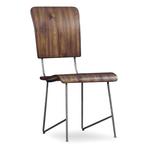 Hooker Furniture Studio 7H Vibe Bentwood Side Chair with Metal Frame