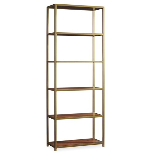 Hooker Furniture Studio 7H NYPL Tall Metal Bookcase with 5 Shelves