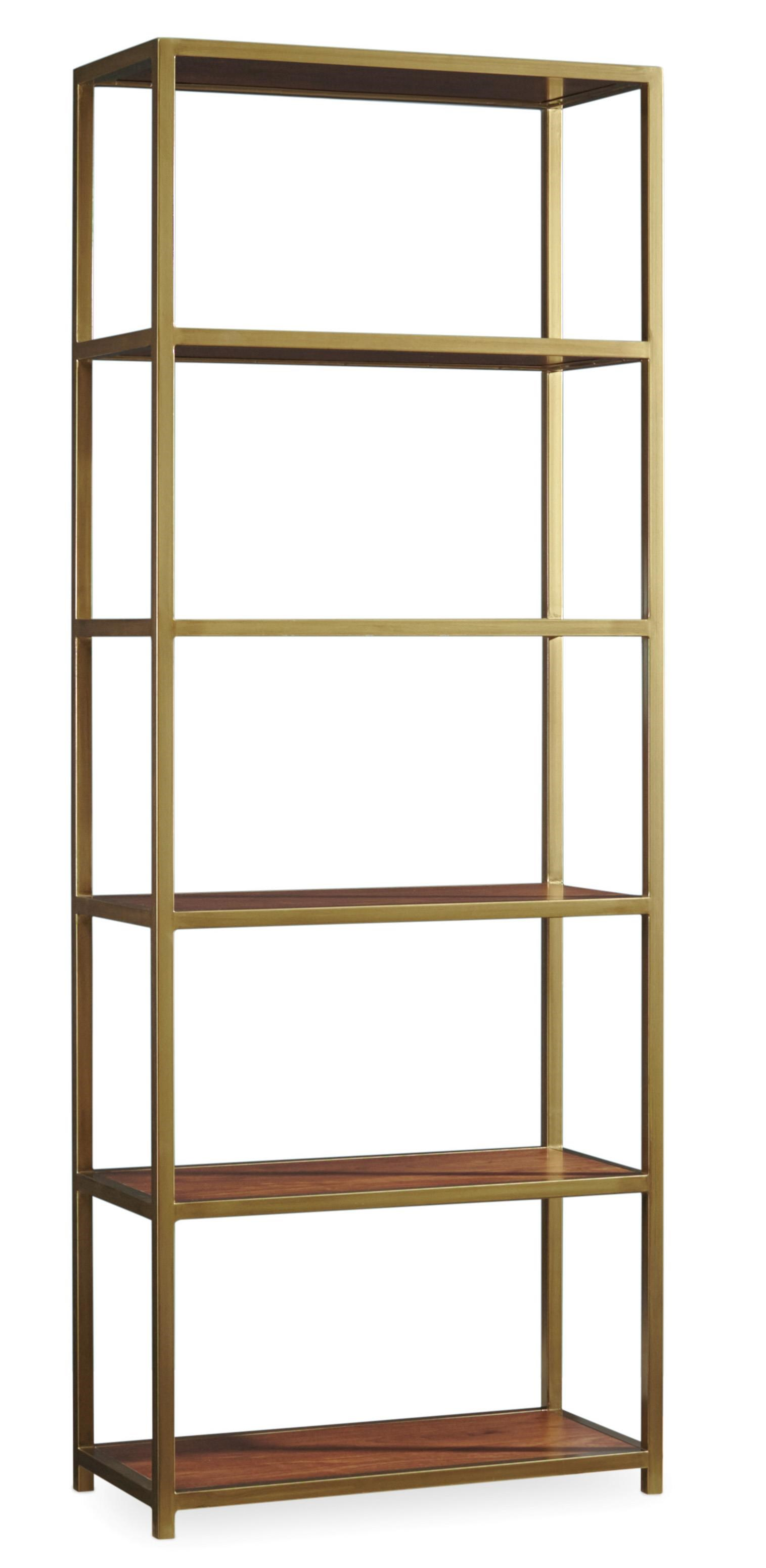 Hooker Furniture Studio 7H 5398 10443 NYPL Tall Metal Bookcase With 5  Shelves | Dunk U0026 Bright Furniture | Open Bookcases