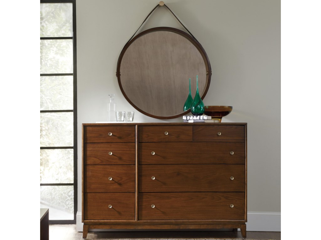 Hooker Furniture Studio 7HSans Serif Dresser and Portal Mirror Set