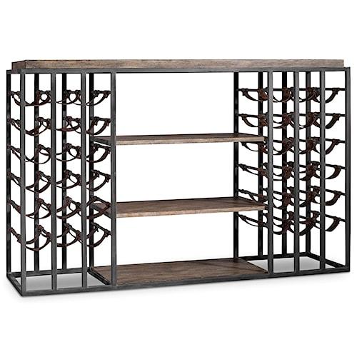 Hooker Furniture Studio 7H Wine Rack with Storage for 36 Wine Bottles