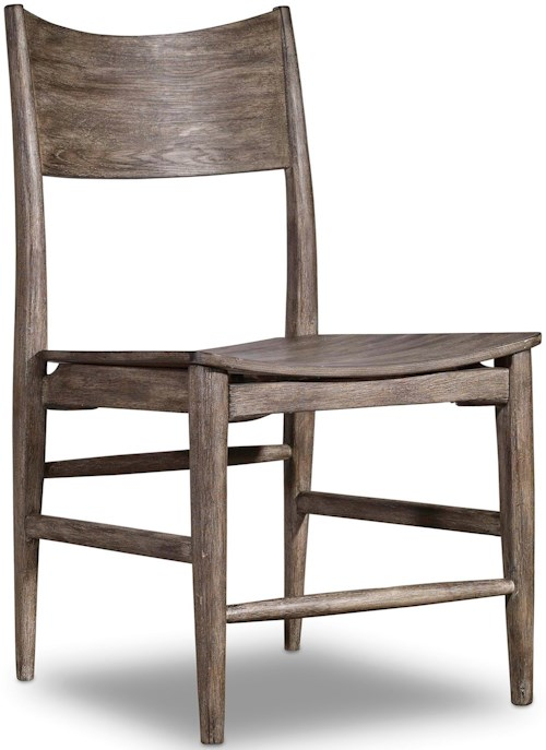 Hooker furniture studio 7h side chair with curved wood for Furniture 0 percent financing