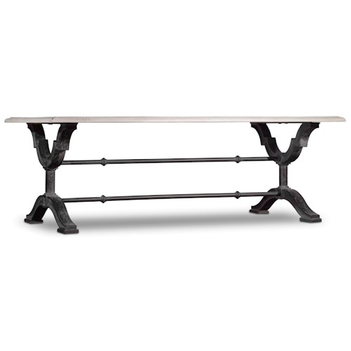 Hooker Furniture Studio 7H Rectangle Cocktail Table with Metal Base