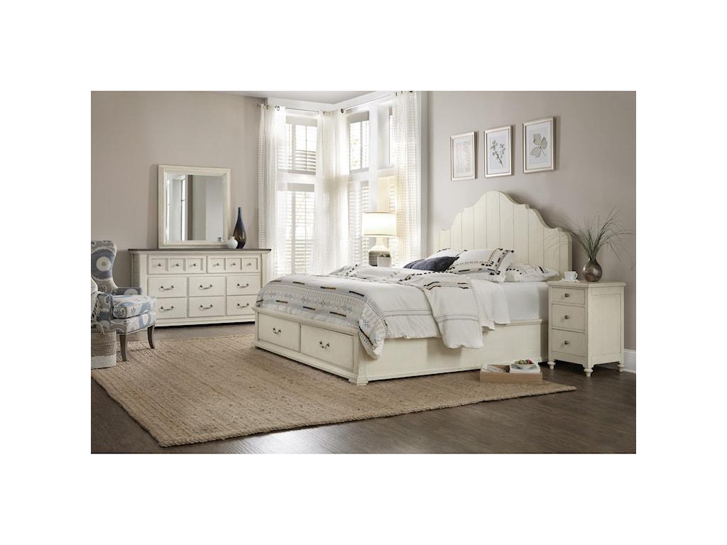 Hooker Furniture SturbridgeKing Panel Bed w/ Storage Footboard