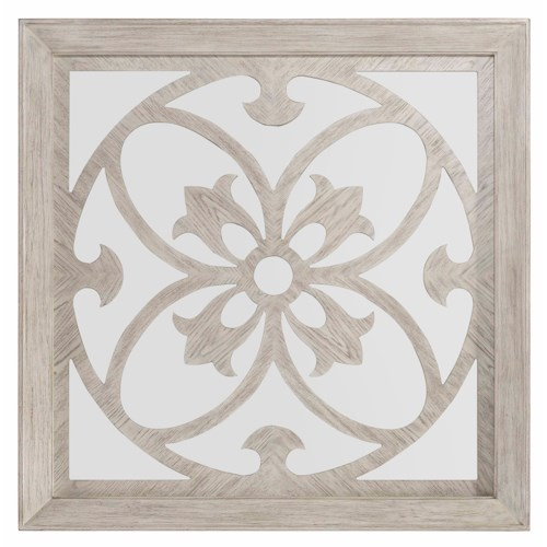 Hooker Furniture Sunset Point Decorative Square Mirror with Wood Overlay