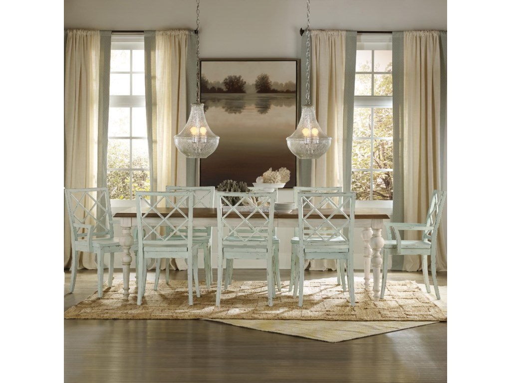 Hooker Furniture Sunset Point9 Piece Table & Chair Set