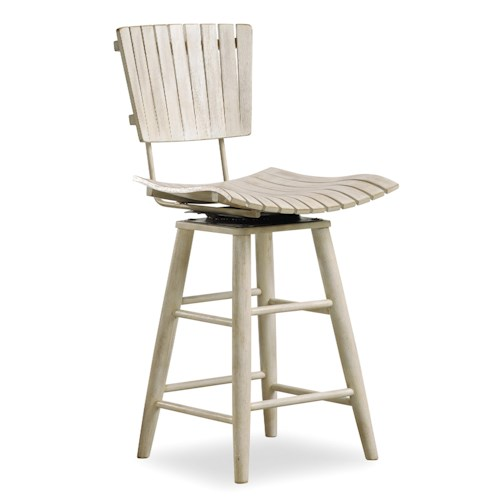 Hooker Furniture Sunset Point Casual Cottage Coastal Counter Chair