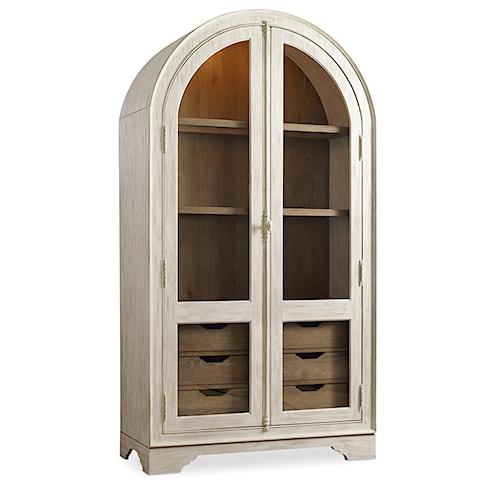 Hooker Furniture Sunset Point Casual Cottage Coastal Display Cabinet
