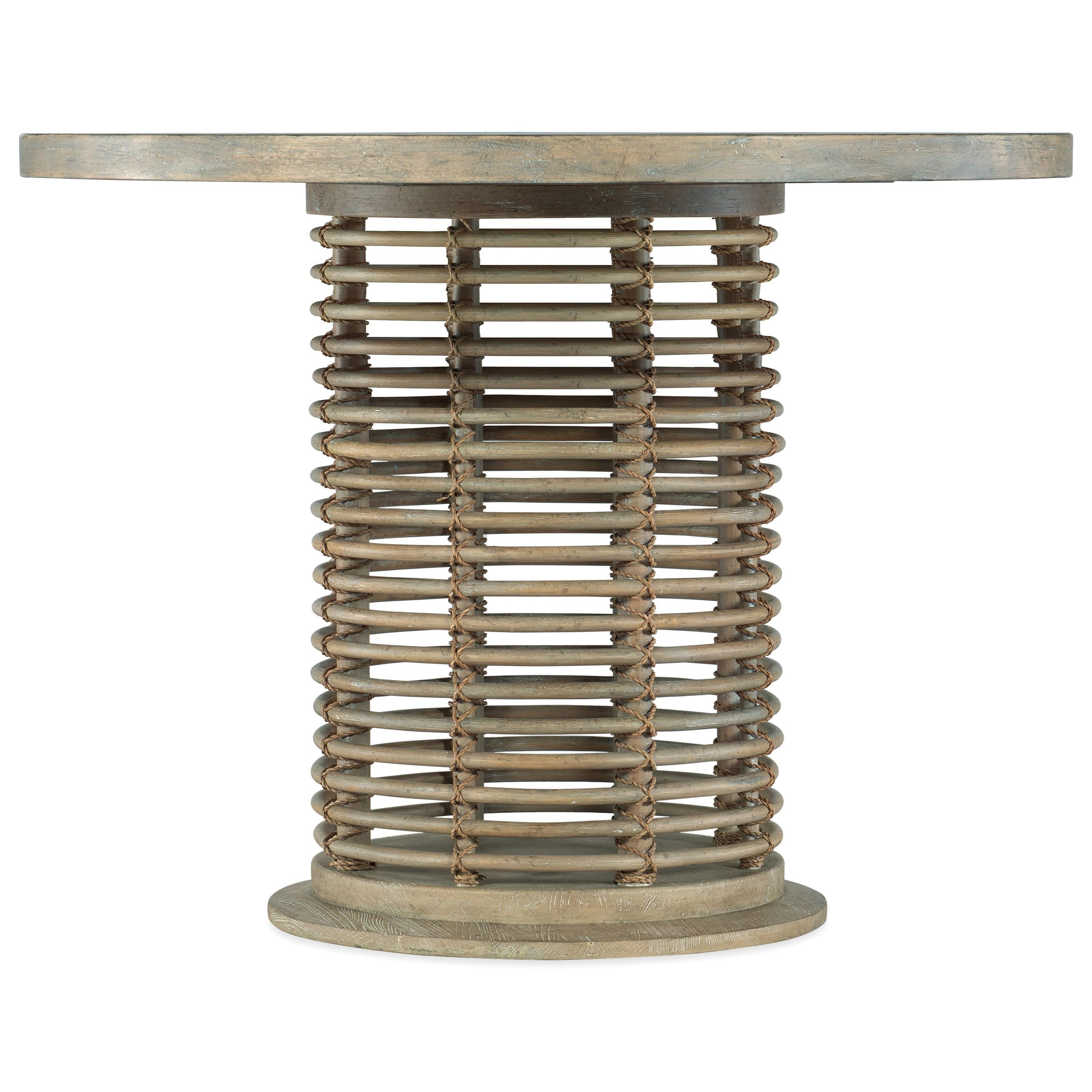 Coastal Counter Height Rattan Bistro Table
