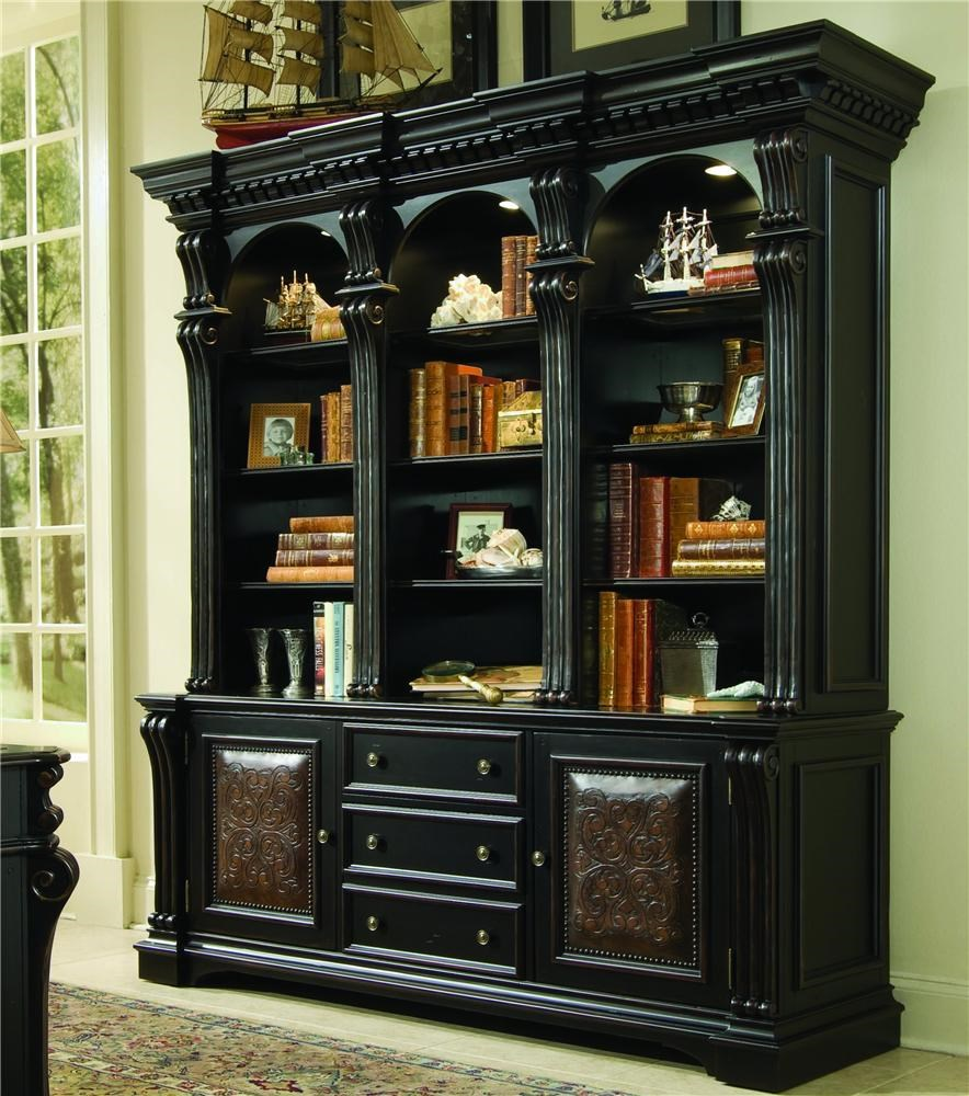 Charming Hooker Furniture Telluride Bookcase Base U0026 Hutch With Nail Head Trim