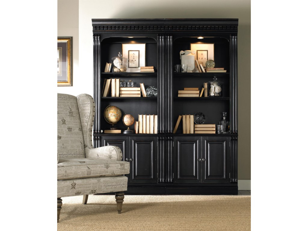 wall renaissance products iigrand threshold cornerwallunit item width hooker ii height european grand bookcase scale and trim unit entertainment furniture bookcases piece corner